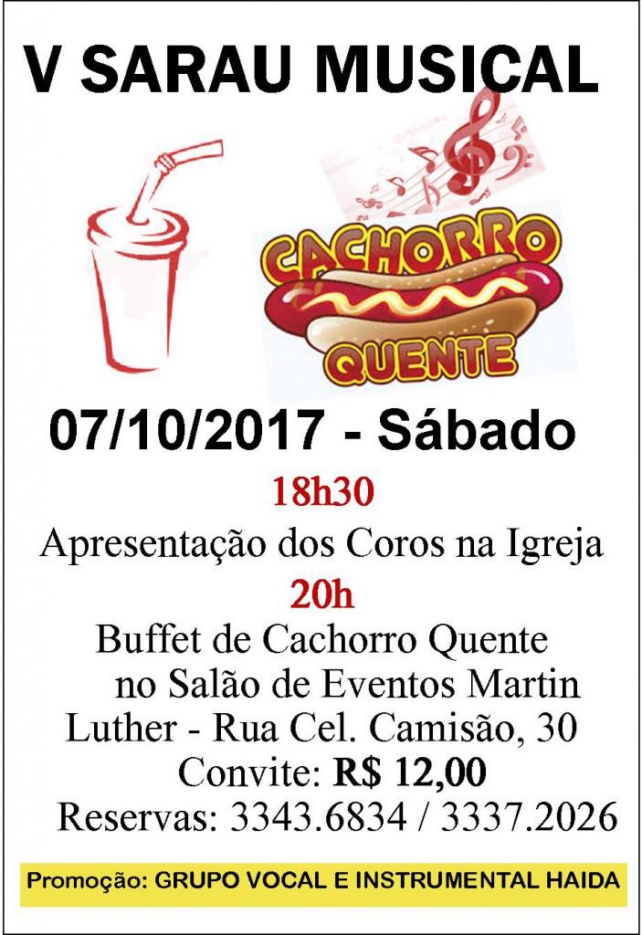 Cartaz Sarau 2017